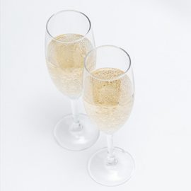 Two glass of champagne Bollinger